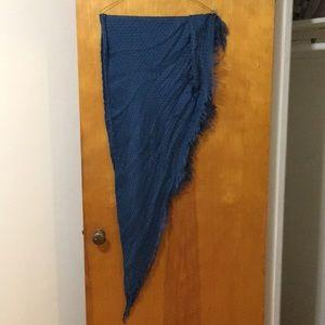 Candies Triangular blue scarf
